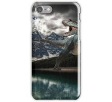 Dinosaur on a lake iPhone Case/Skin