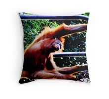Stretching. Throw Pillow