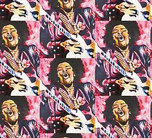 Jimi Hendrix 1 - Design 1 by Kevin J Cooper