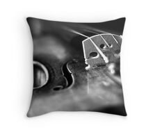 Musical Depth of Field Throw Pillow