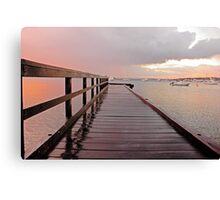 Sunrise On The Jetty  Canvas Print