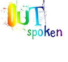 OUTSpoken Rainbow Artwork by incurablehippie