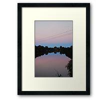 Dawson Dusk Framed Print