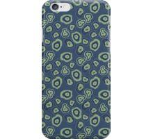 metallic blue green agate iPhone Case/Skin