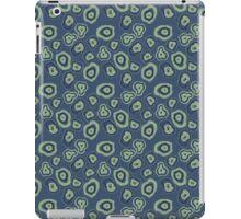 metallic blue green agate iPad Case/Skin