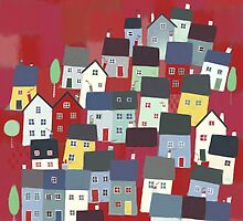 Red village by Nic Squirrell