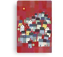 Red village Canvas Print