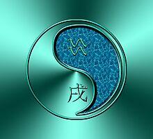 Aquarius & Dog Yang Water by astrodesigner75