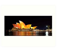 Sydney Opera House in Colour, June 2009. Art Print