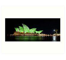 Sydney Opera House in Colour, June 2009 Art Print