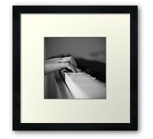 Little fingers Framed Print