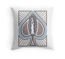 Our Lady of Spades Throw Pillow