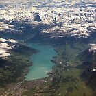Lake Thun: North Face of the Eiger, Moench and Jungfrau by Kasia-D
