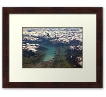 Lake Thun: North Face of the Eiger, Moench and Jungfrau Framed Print
