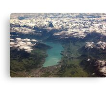 Lake Thun: North Face of the Eiger, Moench and Jungfrau Canvas Print
