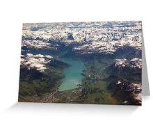 Lake Thun: North Face of the Eiger, Moench and Jungfrau Greeting Card