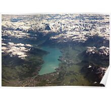 Lake Thun: North Face of the Eiger, Moench and Jungfrau Poster