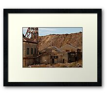 Rusting in Broken Hill Framed Print