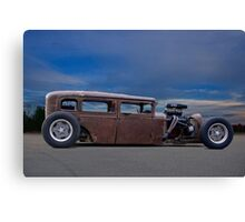 Rat Rod Sedan 'Bring me the Night' Canvas Print