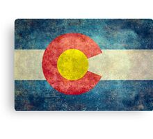Colorado State Flag with vintage retro style treatment Canvas Print