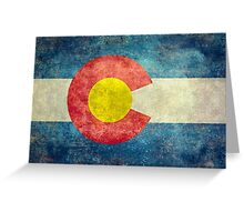 Colorado State Flag with vintage retro style treatment Greeting Card