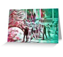 Montreal vintage fantasy picture Greeting Card