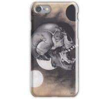 Realism Charcoal Drawing of Screaming Skull iPhone Case/Skin