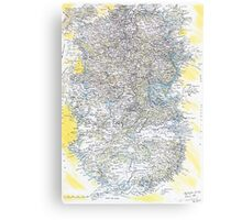 The Kingdom Of Id ( The Map Of My Soul ) Canvas Print