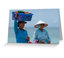 Hawkers at the Beach 2 Greeting Card
