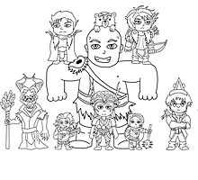 Little Vox Machina (Black and White) by Nguyen013