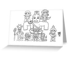 Little Vox Machina (Black and White) Greeting Card