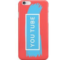 White YOUTUBE (TRXYE insp) iPhone Case/Skin