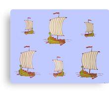 Sailor Boats Canvas Print