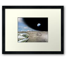 Terraforming the first moon of Terra Nova Framed Print