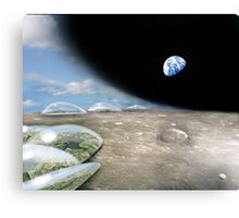 Terraforming the first moon of Terra Nova Canvas Print