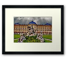 Prince Bishops Palace Wurzburg Germany Framed Print