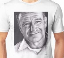 Realism Charcoal Drawing of Robin Williams Unisex T-Shirt
