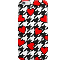 Hearts on Houndstooth  iPhone Case/Skin