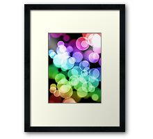 Hiccup - Rainbow Bubble design Framed Print