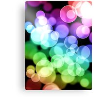 Hiccup - Rainbow Bubble design Canvas Print