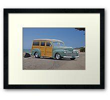 1947 Ford 'Woody' Wagon Framed Print