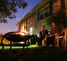 Sharing a Libation by the Fire on a Summer Night by murrstevens