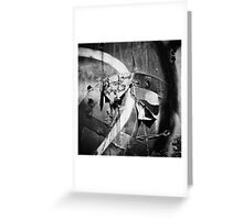 Bw texture Greeting Card