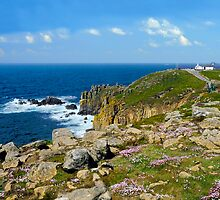Lands End, Cornwall in May by rodsfotos