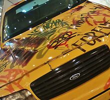 New York Taxi Cab - Graffiti  by clarebearhh