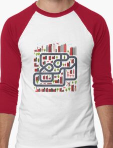 Urban landscape Men's Baseball ¾ T-Shirt