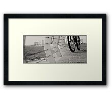 bicycles need to relax Framed Print