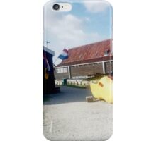 Large Yellow Clog Outside Dutch Souvenir Shop iPhone Case/Skin