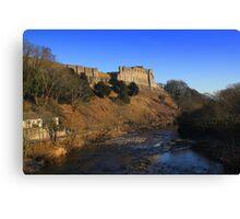 Richmond Castle high above the River Swale, England Canvas Print
