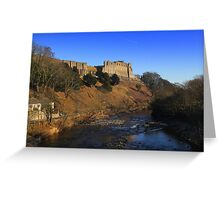 Richmond Castle high above the River Swale, England Greeting Card